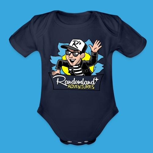 Randomland BURST - Babies - Organic Short Sleeve Baby Bodysuit