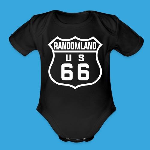 Randomland 66 - Babies - Organic Short Sleeve Baby Bodysuit