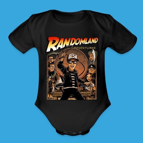 Randomland™ Adventurer BABY! - Organic Short Sleeve Baby Bodysuit