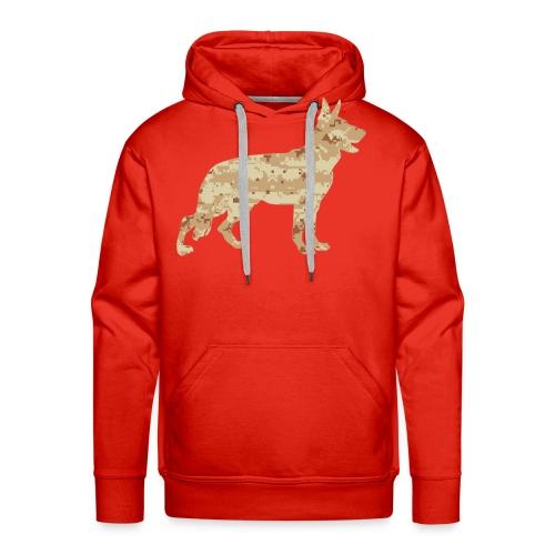 German Shepherd Desert Camouflage - Men's Premium Hoodie