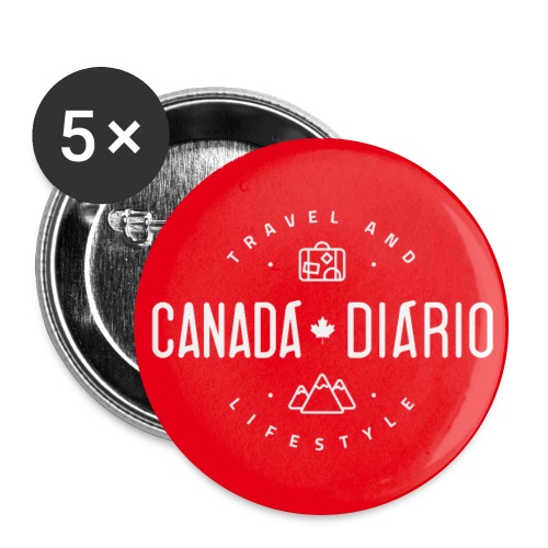 Button Canada Diario 3 - Buttons large 2.2'' (5-pack)