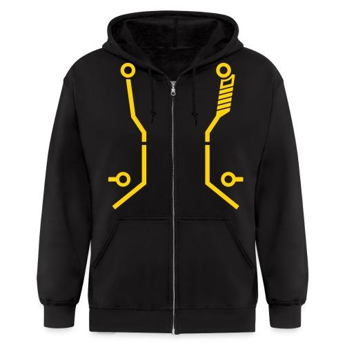 CLU2 hoodie (yellow) - Men's Zip Hoodie