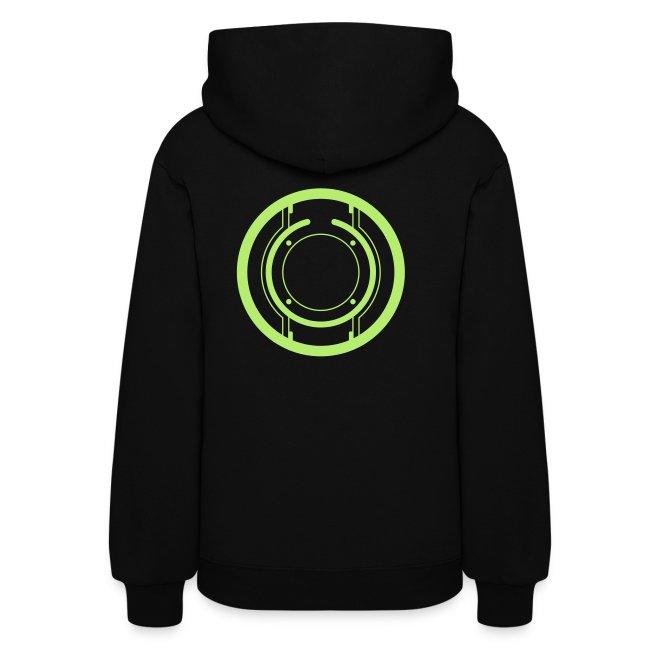 QUORRA women's disc hoodie (green)