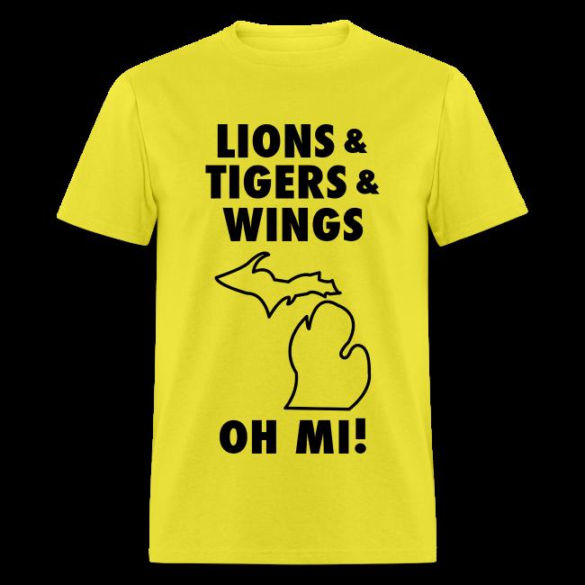 Lions & Tigers & Wings Oh MI! black