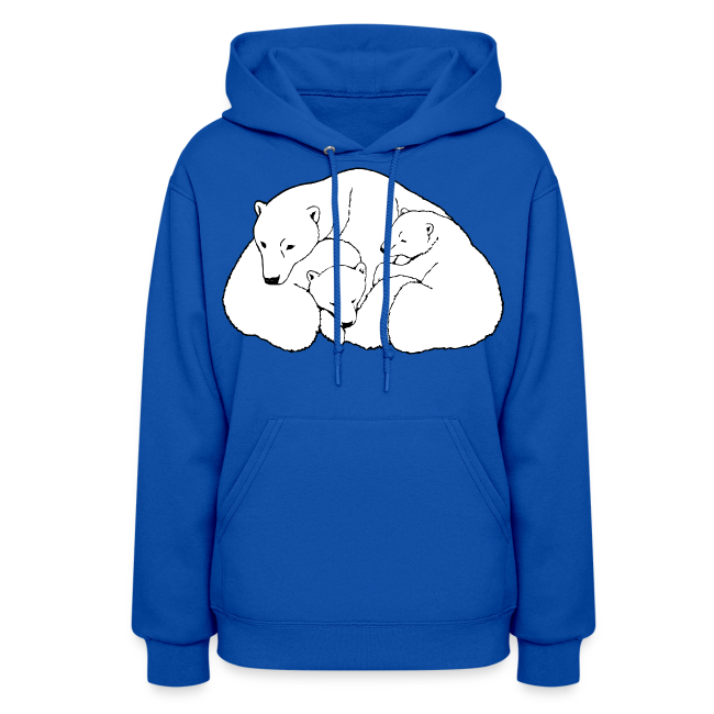 d703ca2c Polar Bear Hoodies Mother & Cub Art Hoodie - Women's | Molleton à capuche  pour femmes