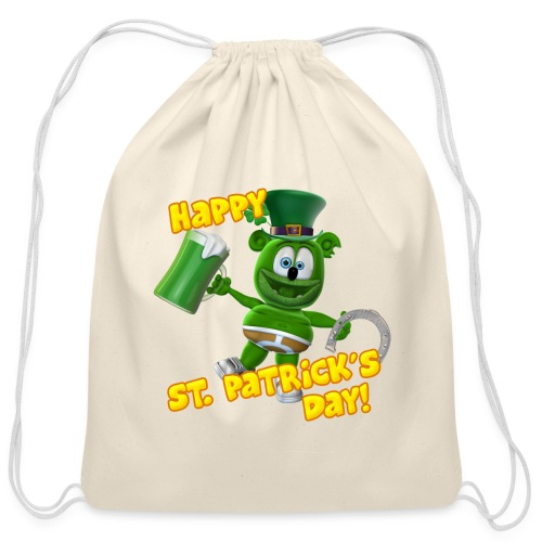 Gummibär (The Gummy Bear) Saint Patrick's Day Bag - Cotton Drawstring Bag