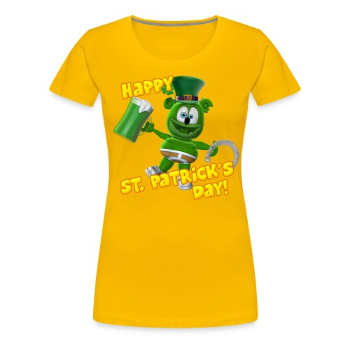 Gummibär (The Gummy Bear) St. Patrick's Day Woman's T-Shirt - Women's Premium T-Shirt