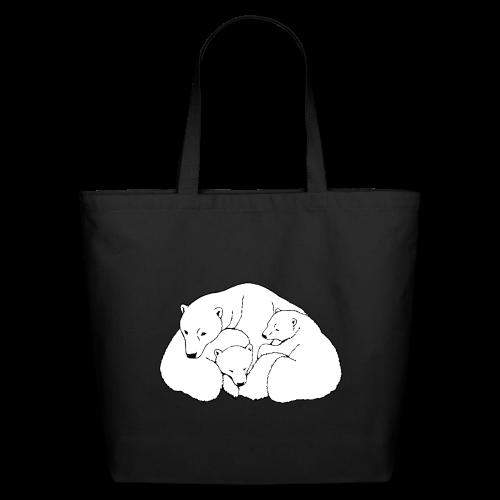 Polar Bear Tote Bags Bear Art Bags  - Eco-Friendly Cotton Tote