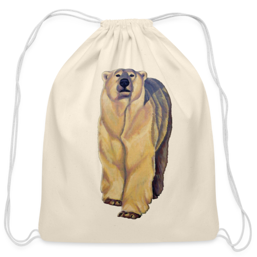 Polar Bear Bags Bear Art Backpack Bags  - Cotton Drawstring Bag