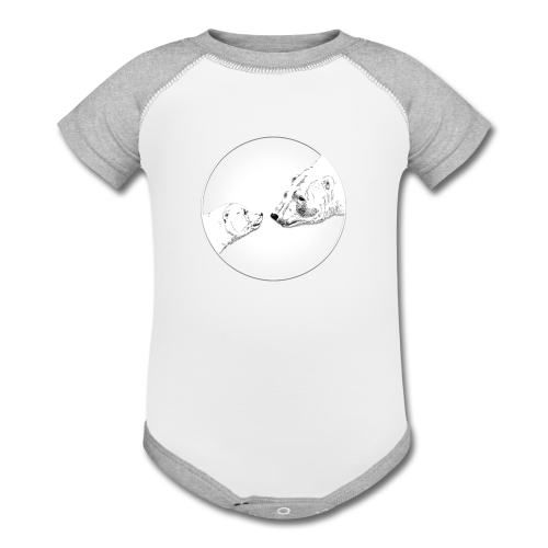 Polar Bear Baby Bodysuit Bear Art Infant Gifts - Contrast Baby Bodysuit