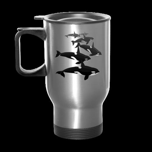 Orca Whale Travel Mugs Whale Art Mugs - Travel Mug