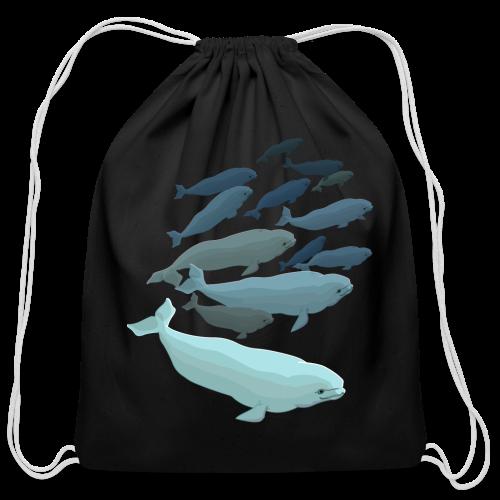 Beluga Backpacks Whale Art Bags - Cotton Drawstring Bag