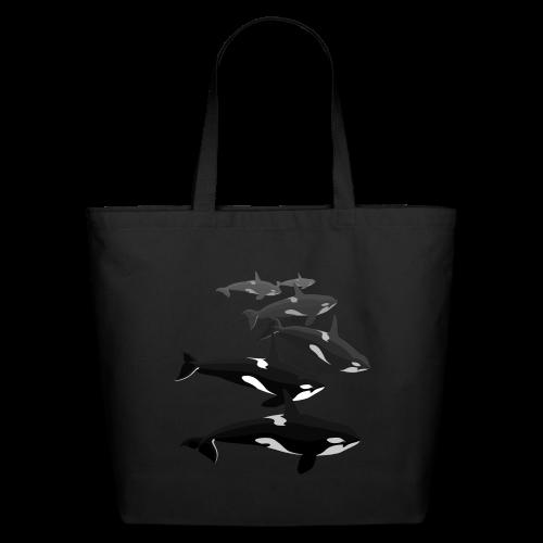 Orca Tote Bags Killer Whale Art Eco-friendly Bags - Eco-Friendly Cotton Tote