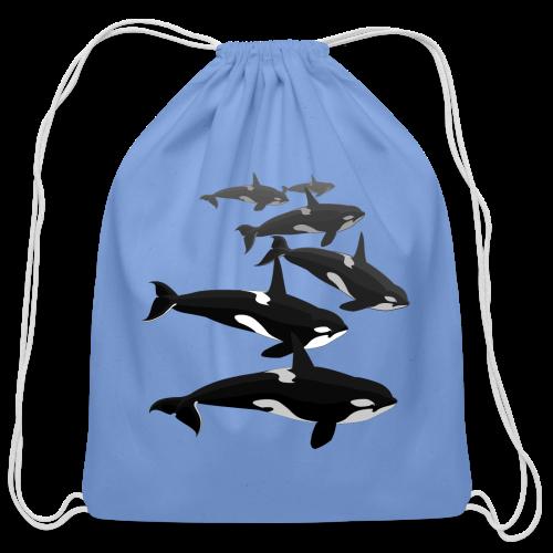 Orca Backpack Killer Whale Art Bags - Cotton Drawstring Bag