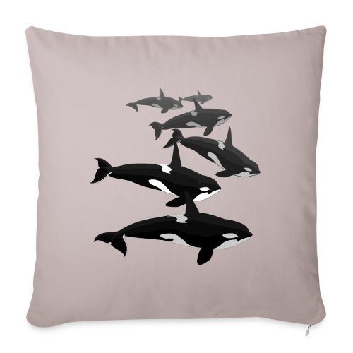 "Orca Pillows Killer Whale Art  Throw Pillows - Throw Pillow Cover 18"" x 18"""