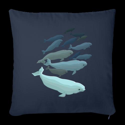 "Whale Art Pillows Beluga Whale Throw Pillows - Throw Pillow Cover 18"" x 18"""