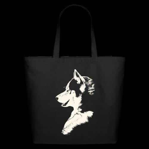 Husky Bags Eco-friendly Siberian Husky Tote Bags  - Eco-Friendly Cotton Tote