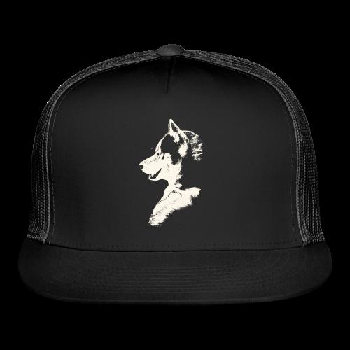 Husky Caps Siberian Husky PupTrucker Hats - Trucker Cap
