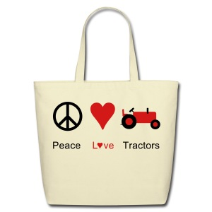 Peace Love Tractors - Eco-Friendly Cotton Tote
