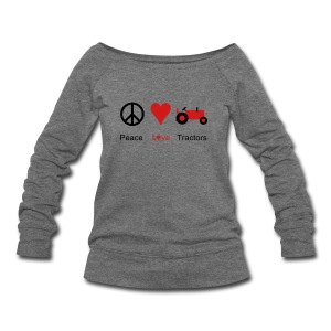Peace Love Tractors - Women's Wideneck Sweatshirt