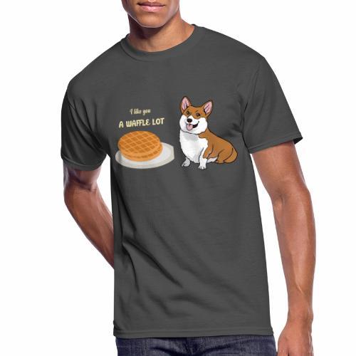 Waffle The Dog - Men's 50/50 T-Shirt