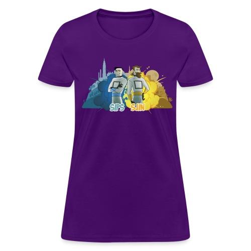 Sips & Sjin - Women's Tee - Women's T-Shirt