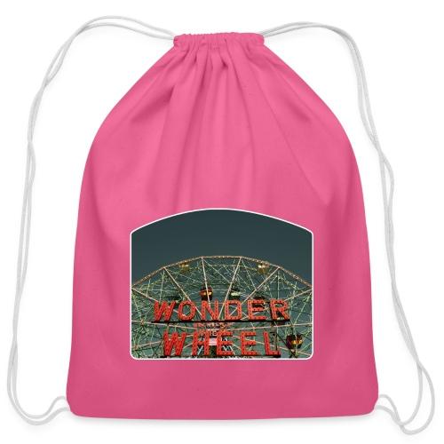 Wonder Wheel - Cotton Drawstring Bag