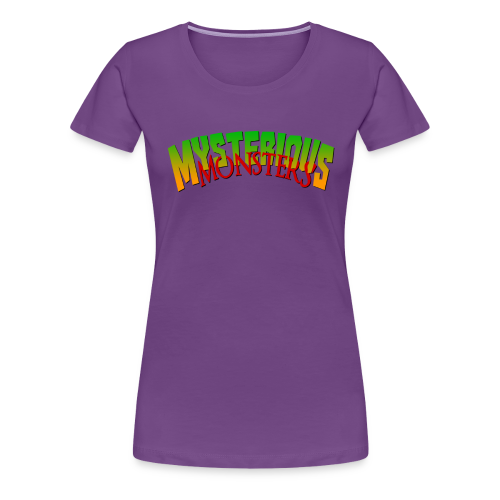Mysterious Monsters Slim T - Women's Premium T-Shirt