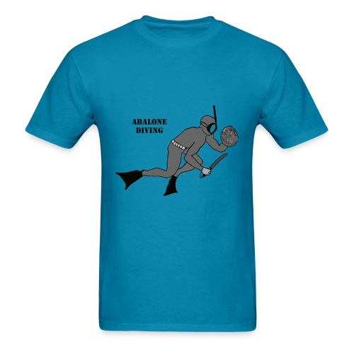 Freediving Breath Hold Trophy Abalone Diver - Men's T-Shirt