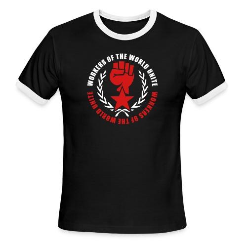 Marxist Fist Ringer Tee - Men's Ringer T-Shirt