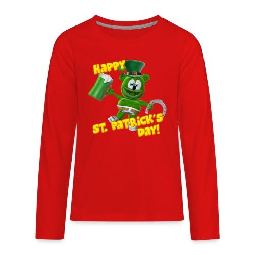 Gummibär (The Gummy Bear) St. Patrick's Day Kids' Premium Long Sleeve T-Shirt - Kids' Premium Long Sleeve T-Shirt