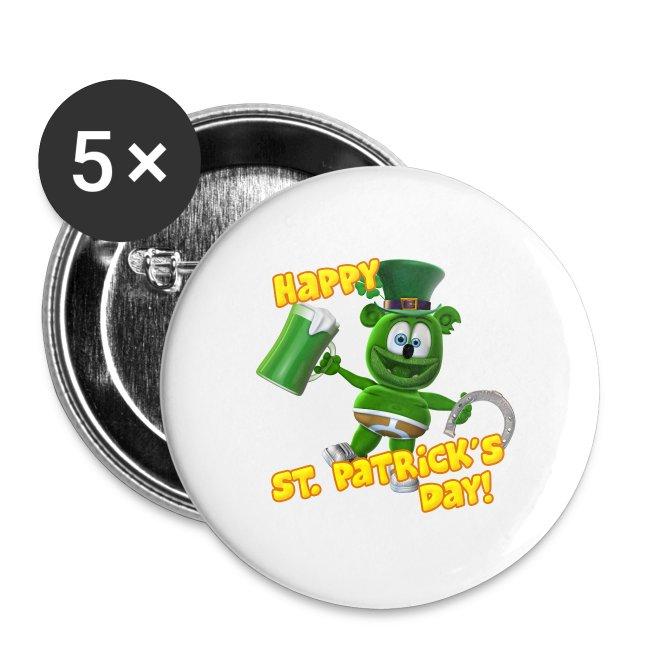 "Gummibär (The Gummy Bear) Saint Patrick's Day Small 1"" Buttons (5-pack)"