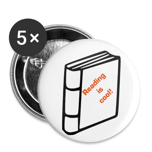 Reading is cool! - Small Buttons