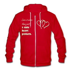 Love is more than just a cute heart pattern glow in the dark - Unisex Fleece Zip Hoodie