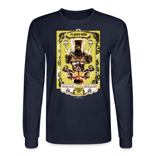 Planet Beer Gear Head Steampunk Strong Ale Men's Long Sleeve T-Shirt  - Men's Long Sleeve T-Shirt