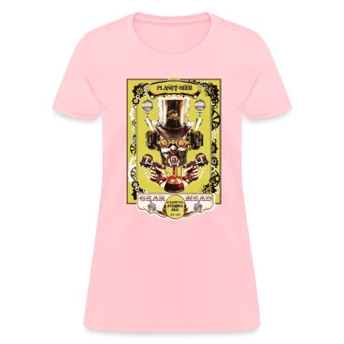 Planet Beer Gear Head Steampunk Strong Ale Women's T-Shirt  - Women's T-Shirt