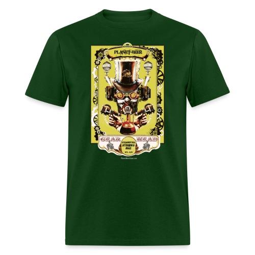 Planet Beer Gear Head Steampunk Strong Ale Men's T-Shirt  - Men's T-Shirt