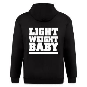 Light weight baby | Zipper hoodie (Back print) - Men's Zip Hoodie