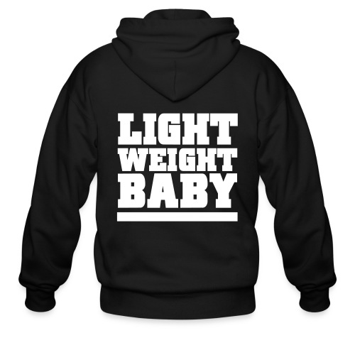 Light weight baby | Zipper hoodie (Back print) - Men's Zip Hoodie