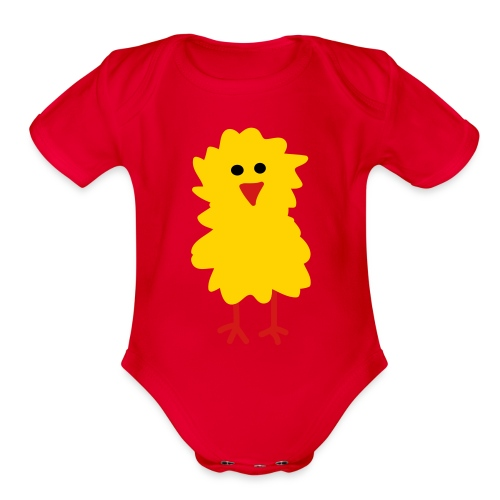 Chick Baby Short Sleeve - Organic Short Sleeve Baby Bodysuit