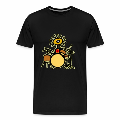 Sun Man Drummer - Men's Premium T-Shirt