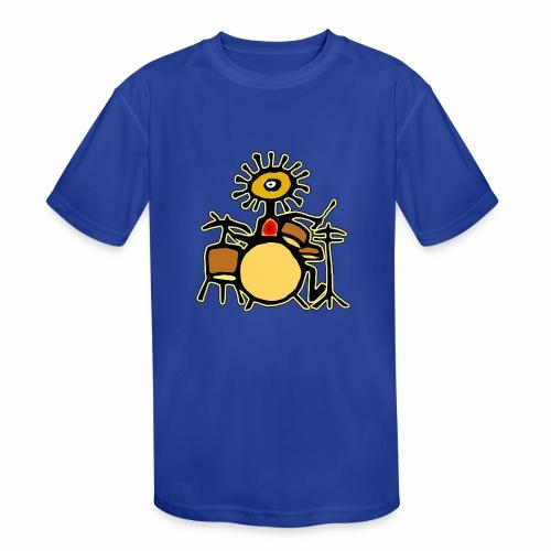 Sun Man Drummer - Kids' Moisture Wicking Performance T-Shirt