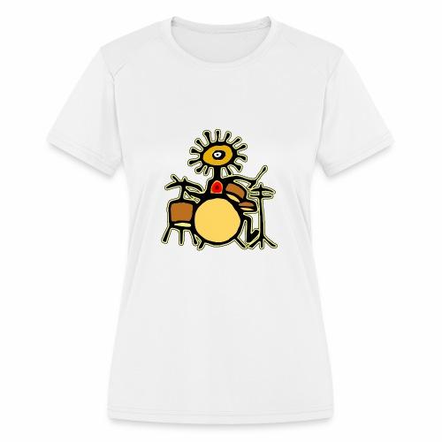 Sun Man Drummer - Women's Moisture Wicking Performance T-Shirt
