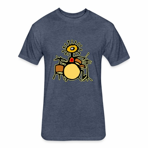 Sun Man Drummer - Fitted Cotton/Poly T-Shirt by Next Level