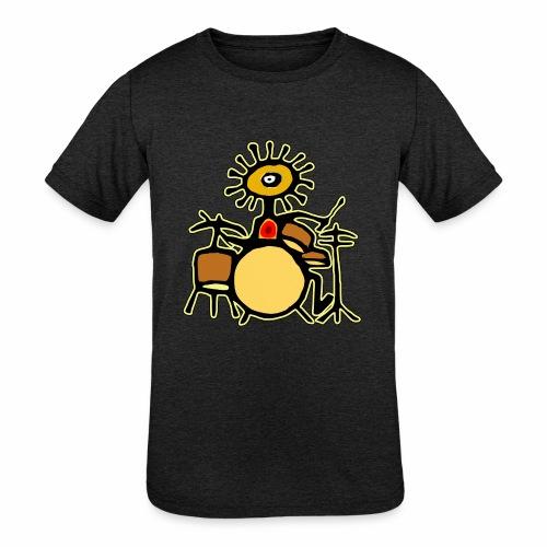 Sun Man Drummer - Kids' Tri-Blend T-Shirt