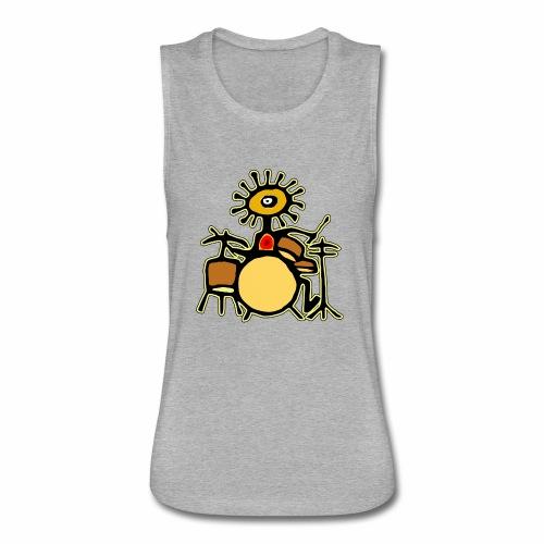 Sun Man Drummer - Women's Flowy Muscle Tank by Bella
