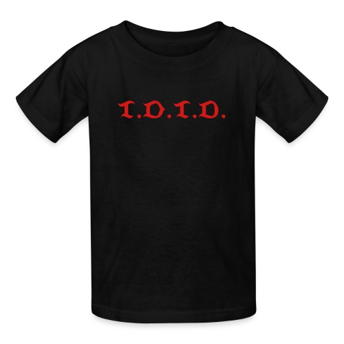 Kid's Black Tee with abbreviated logo - Kids' T-Shirt