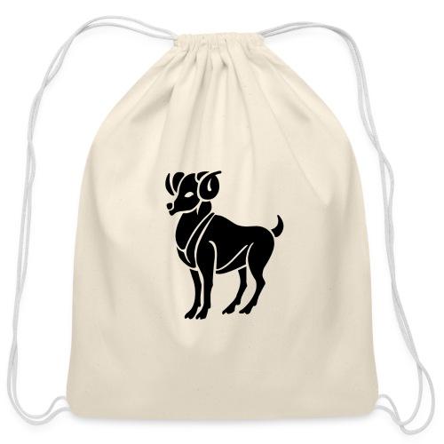 ARIES Zodiac Sign Symbol Cotton Drawstring bag - Cotton Drawstring Bag