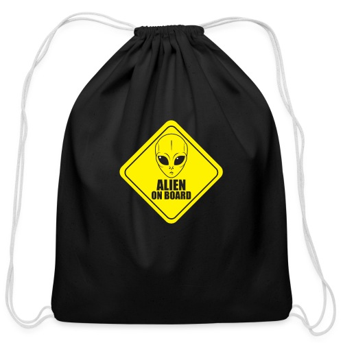 Alien on Board - Cotton Drawstring Bag