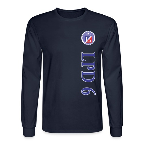 USS DULUTH LPD-6 VERT STRIPE LONG SLEEVE - Men's Long Sleeve T-Shirt